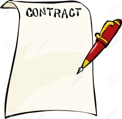 contract-clipart-17887322-Contract-on-a-white-background-illustration-Stock-Vector-contract-cartoon-sign